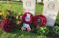 Artillery Wood Cemetery, the grave of WW1 poet E H Evans (Hedd Wyn) – Armistice in Ypres and Passchendaele 100 Anniversary Battlefield Tour