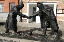 The Christmas Truce Statue at Messines – Taste of Flanders Ypres Battlefield Tour