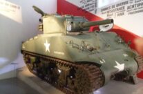 Sherman Tank inside museum – Easy Company Private Battlefield Tour