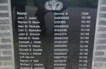 Plaque remembering the fallen men from Easy Company listed on their memorial – Easy Company Private Battlefield Tour