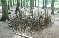 Makeshift memorial to the men of Easy Company in Bois Jaques – Easy Company Private Battlefield Tour