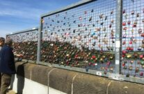 Message padlocks on the Möhne Dam – Dam Busters Private Battlefield Tour