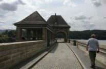 Path along top of the Eder Dam – Dam Busters Private Battlefield Tour