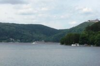 View from the Eder Dam of reservoir and castle – Dam Busters Private Battlefield Tour