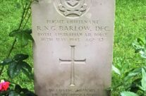 Flt Lt Norman Barlow's grave at Reichswald Forest Cemetery – Dam Busters Private Battlefield Tour