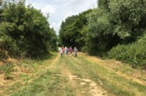 Walking along the Sunken Lane made famous in the Geoffrey Mallins film – Etaples and Somme WW1 Battlefield Tour