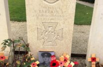 The grave of Thomas Barratt VC at Essex Farm Cemetery – 2018 Armistice Remembrance Day in Ypres
