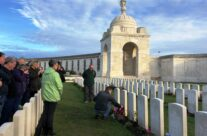 The Gt Gt nephew of Canadian VC winner J P Robertson at Tyne Cot Cemetery – 2018 Armistice Remembrance Day in Ypres