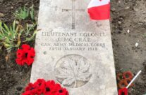 Lt Col John McCrae's grave at Wimereux Communal Cemetery – Somme and Ypres WW1 Battlefield Tour