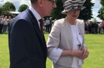 Theresa May attending the Remembrance Ceremony at Bayeux War Cemetery – Normandy and D-Day Landings 75th Anniversary Tour