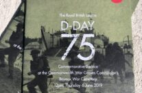 The programme for the Remembrance Ceremony at Bayeux War Cemetery – Normandy and D-Day Landings 75th Anniversary Tour