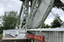The original Pegasus Bridge in the museum grounds – Normandy and D-Day Landings 75th Anniversary Tour