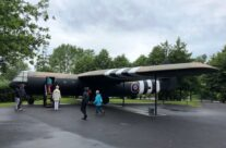 A full size copy of a Horsa glider displayed in the grounds of the museum – Normandy and D-Day Landings 75th Anniversary Tour