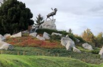 The Caribou Memorial at Newfoundland Park – Somme and Ypres WW1 Battlefield Tour