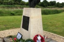 Memorial to Major John Howard at Pegasus Bridge – Normandy and D-Day Landings 75th Anniversary Tour