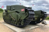One Charlie tank at Juno Beach – Normandy and D-Day Landings 75th Anniversary Tour