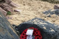 Wreath at Gold Beach – Normandy and D-Day Landings 75th Anniversary Tour