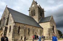 The church at St Mère Eglise – Normandy and D-Day Landings 75th Anniversary Tour