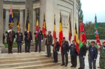 Last Post Ceremony at Ploegsteert (Plugstreet) Memorial to the Missing – Gardens of Stone book by Stephen Grady WW2 Tour