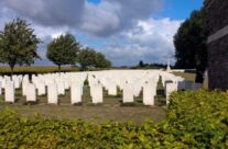 Le Pont d'Achelles Cemetery – the cemetery where Stephen Grady and his father worked – Gardens of Stone book by Stephen Grady WW2 Tour