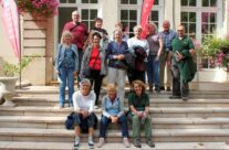 The group on the steps of Nieppe Museum – Gardens of Stone book by Stephen Grady WW2 Tour