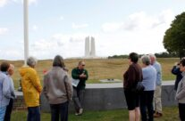 The group at the Vimy Ridge WW1 Memorial – Gardens of Stone book by Stephen Grady WW2 Tour