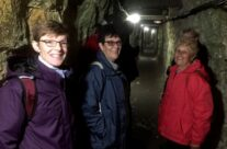 The group in the WW1 tunnels at Vimy – Gardens of Stone book by Stephen Grady WW2 Tour