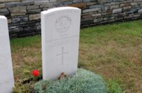 The grave of the Queen Mother's brother in Quarry WW1 cemetery – Gardens of Stone book by Stephen Grady WW2 Tour