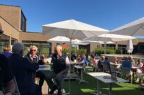 Enjoying the sunshine and samples at Bierkasteel Brewery – Beers and Battlefields of Flanders WW1 Tour
