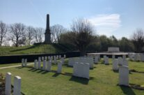 Memorial to the 49th Division at Essex Farm Cemetery – Beers and Battlefields of Flanders WW1 Tour