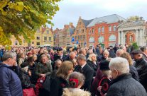 Armistice Day and waiting to take part in the Poppy Parade – 2018 Armistice Remembrance Day in Ypres