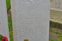Grave of Noel Chavasse double VC winner, Brandhoek New Military Cemetery, Vlamertinge – Somme and Ypres Battlefield Tour