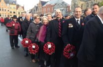 Our group waiting for the Poppy Parade to begin – 2013 Armistice Day in Ypres and Battlefield Tour