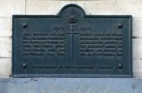 Plaque to the 116th Canadian Infantry Battalion at their advanced outpost upon the cease-fire on 11.11.18 – Mons and Ypres Battlefield Tour