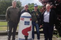 Some of the Group at the Liberty Marker at Bastogne – Easy Company Private Battlefield Tour