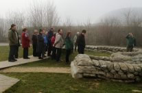 The group at the Yorkshire Trench – Ypres Salient Battlefield Tour