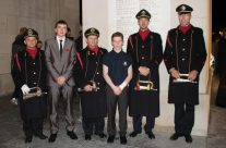 Cadets with Last Post Buglers after the Last Post Ceremony at the Menin Gate, Ypres – Somme and Ypres Battlefield Tour