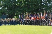 Standard-bearers at the 70th Anniversary Ceremony at Bayeux War Cemetery – Normandy & D-Day Landings 70th Anniversary Ceremony & Battlefield Tour