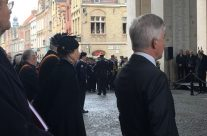 Princess Anne taking part in the Remembrance Ceremony at the Menin Gate – Armistice in Ypres and Passchendaele 100 Anniversary Battlefield Tour