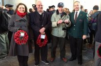 Tour party members with Tony at the Menin Gate for the Last Post Ceremony – Ypres Salient Battlefield Tour