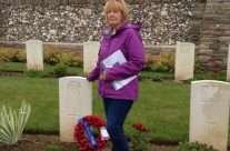 A visit to the remote Morlancourt British Cemetery No 1 for Lynn to lay a wreath for her Great Grandfather – Somme Battlefield Tour
