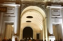 At The Menin Gate, Ypres, waiting for the Last Post Ceremony to begin – Messines Discovery Battlefield Tour