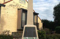 The Royal Irish Regiment Memorial at La Bascule Crossroads, Mons – Mons and Ypres Battlefield Tour