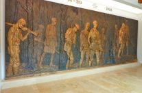 One of the bronze panels in Delville Wood Museum – Somme and Ypres Battlefield Tour