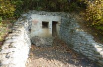 Medical Bunker (faded Red Cross), part of the Lettenberg Bunker System – Somme and Ypres Battlefield Tour