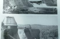 Old photos on display of the Möhne Dam – Dam Busters Private Battlefield Tour