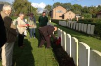 Personal visit for one of our group at Duhallow A.D.S. Cemetery – Ypres Battlefield Tour