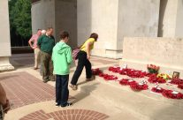 The first pilgrimage at Thiepval Memorial for Evelyn and her son Gareth to remember her Great Uncle who has no known grave – Somme Battlefield Tour