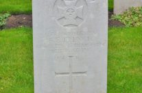 Grave of Rifleman Albert E French, Hyde Park Corner (Royal Berks) Cemetery; one of the youngest to die on the Western Front age 16 – Somme and Ypres Battlefield Tour