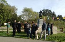 The group at Black Watch Corner – Somme and Ypres Battlefield Tour